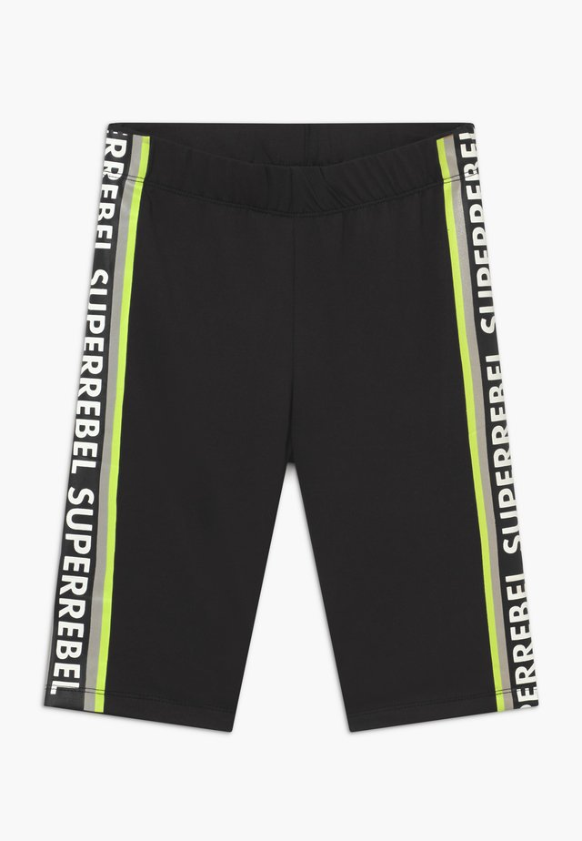 GIRLS SPORT CAPRI RUNNING - 3/4 sports trousers - black/neon yellow
