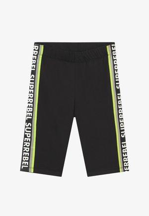 GIRLS SPORT CAPRI RUNNING - 3/4 sports trousers - black/neon yellow