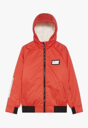 GIRLS THIN JACKET - Snowboard jacket - neon red