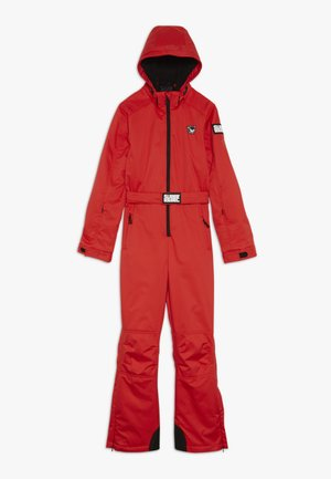 SKI SUIT PLAIN BOYS GIRLS - Snow pants - neon red