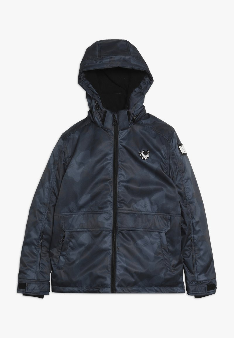 SuperRebel - SKI TECHNICAL JACKET ALL OVER - Snowboard jacket - grey/blue