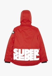 SuperRebel - SKI TECHICAL JACKET PLAIN - Snowboard jacket - neon red