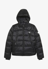 SuperRebel - BASIC SHINY BOYS SKI JACKET - Snowboard jacket - black - 3