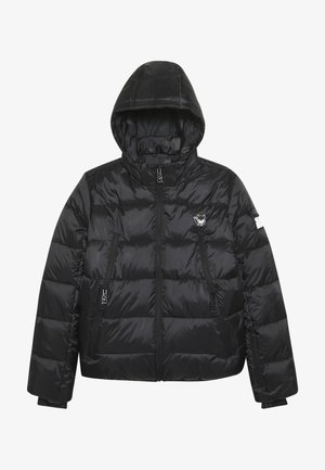 BASIC SHINY BOYS SKI JACKET - Snowboardová bunda - black