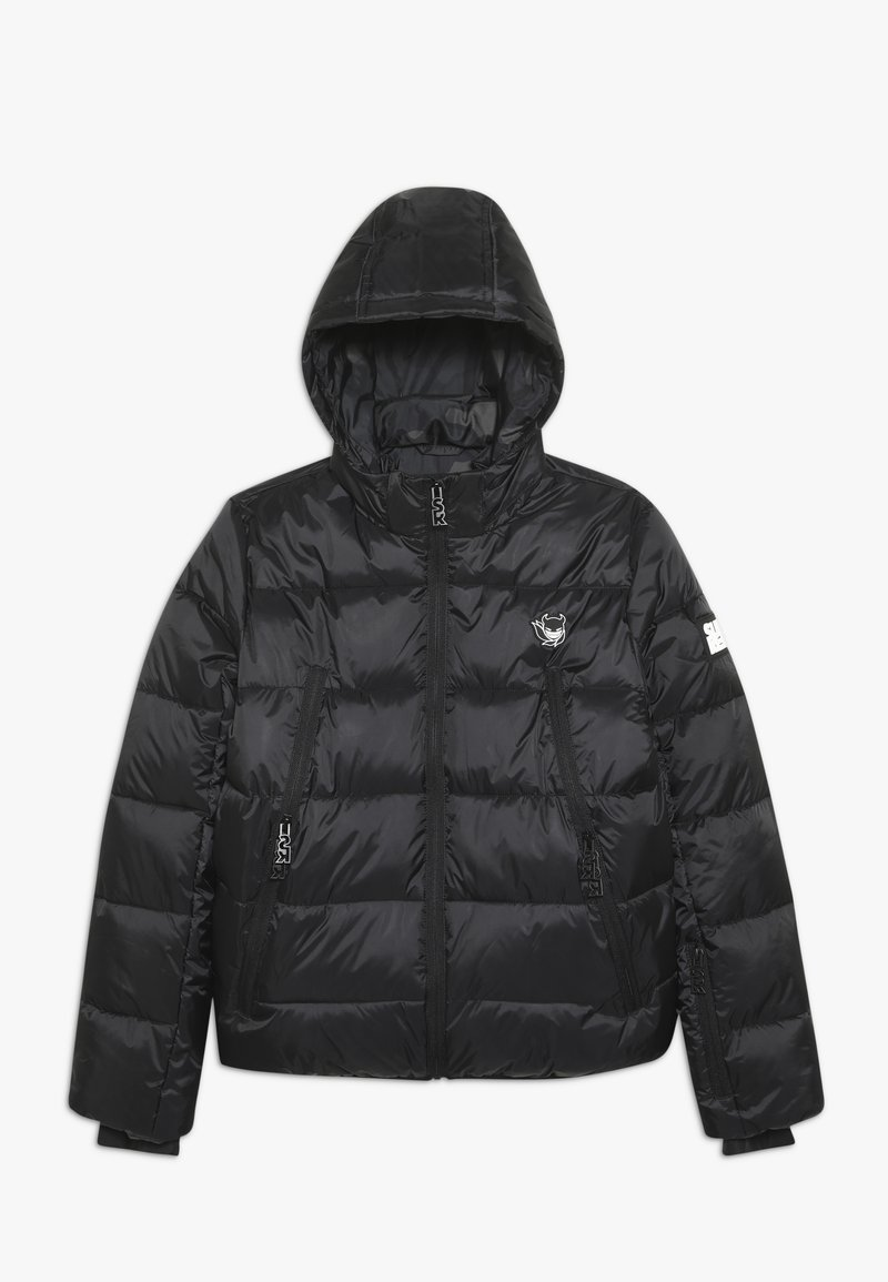 SuperRebel - BASIC SHINY BOYS SKI JACKET - Snowboard jacket - black