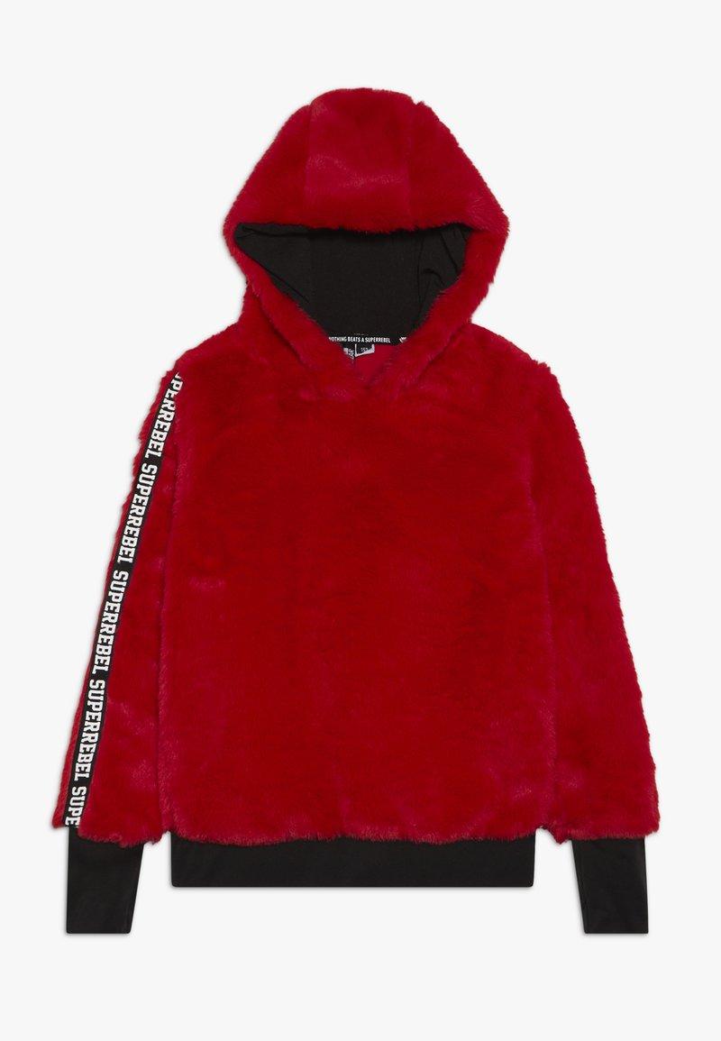 SuperRebel - GIRLS HOODED - Hættetrøjer - dark red