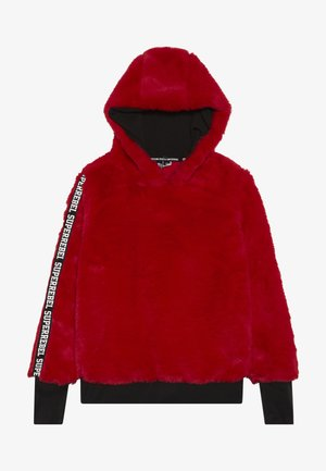 GIRLS HOODED - Hoodie - dark red