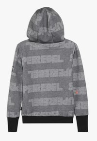 SuperRebel - BOYS HOODED TEKST ALL OVER - Mikina s kapucí - black - 1