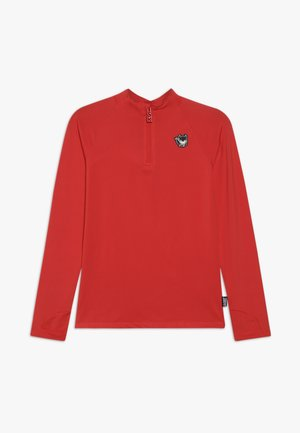 BOY GIRLS SKI PULL BADGE - Sports shirt - neon red