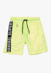 SuperRebel - BOYS SWIM PLAIN - Swimming shorts - neon yellow - 0