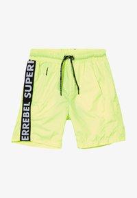 SuperRebel - BOYS SWIM PLAIN - Swimming shorts - neon yellow - 2