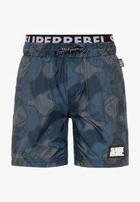 SuperRebel - BOYS SWIM ALL OVER - Swimming shorts - grey blue - 0
