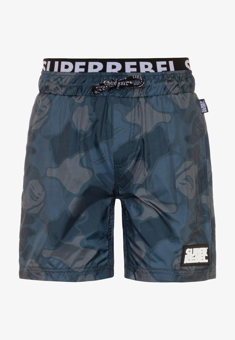 SuperRebel - BOYS SWIM ALL OVER - Swimming shorts - grey blue