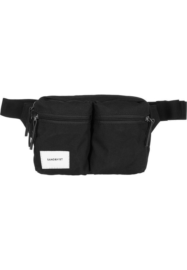 Bum bag - black with black leather