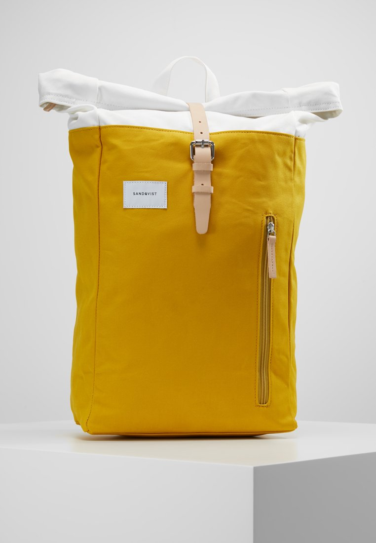 Sandqvist - DANTE - Ryggsekk - multi yellow / off white