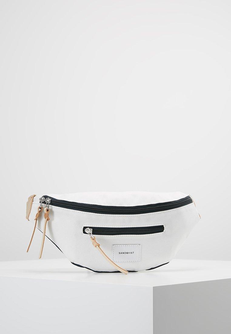 Sandqvist - ASTE - Ledvinka - multi off white / blue with natural leather