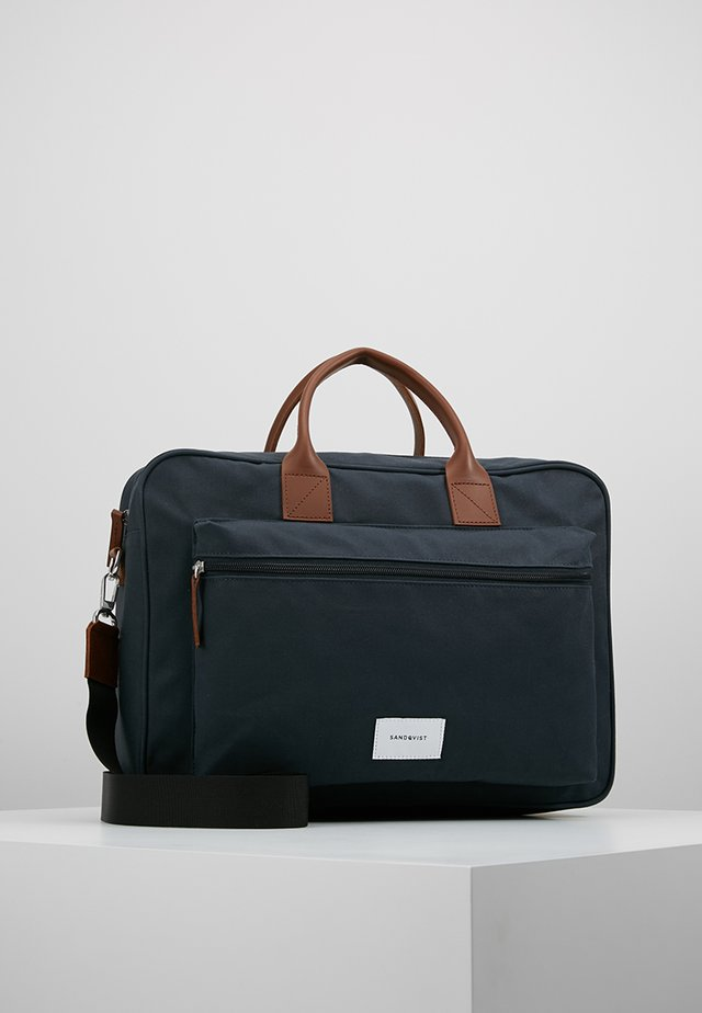 EMIL - Laptop bag - navy/cognac