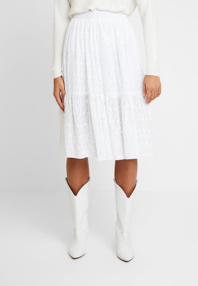 LIV - Áčková sukně - white