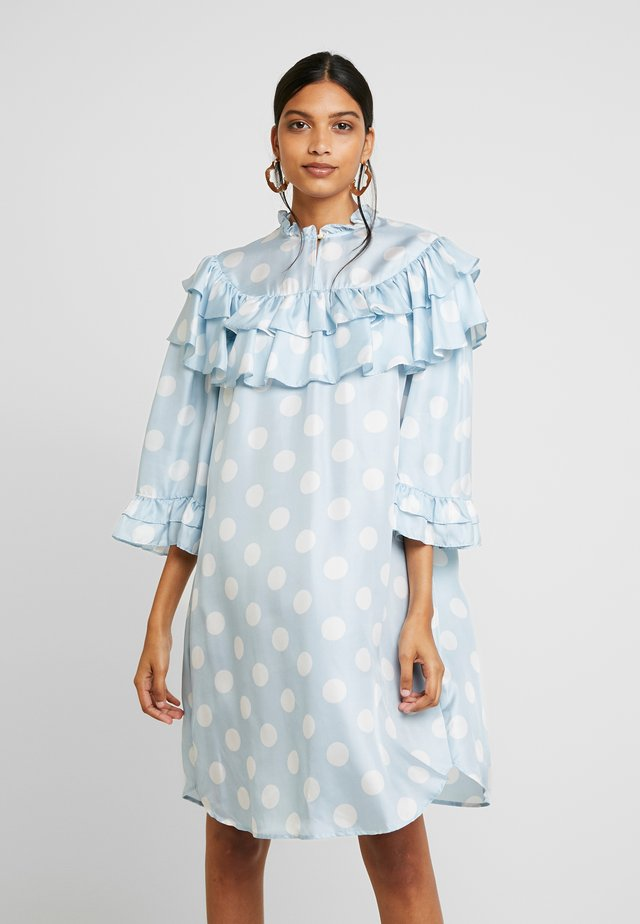KANZA - Day dress - light blue/white