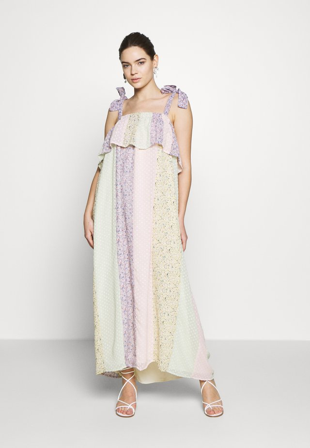 ELLA - Maxi dress - candy blue/pink/green