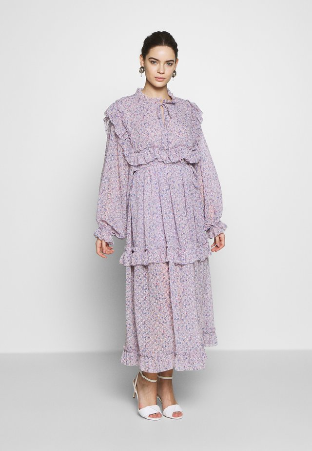 BARBARA - Day dress - violet flower field