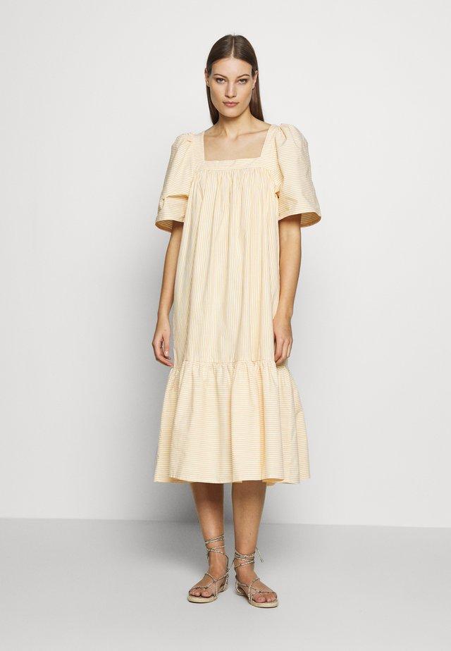 BERA - Korte jurk - yellow/white