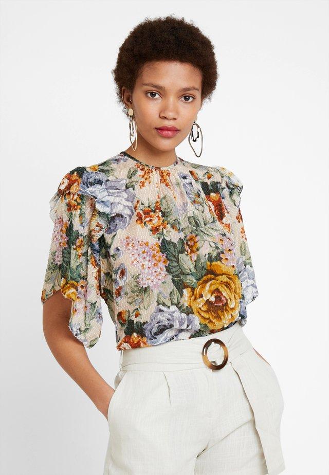 EUN - Bluse - beige/multicolour