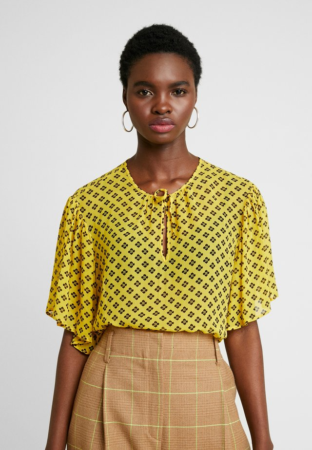 MELIE - Blouse - yellow/black