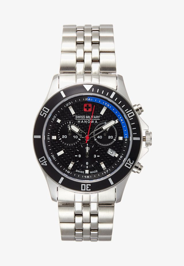 FLAGSHIP RACER - Chronograph watch - black/silver-coloured
