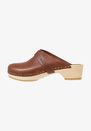 HUSBAND - Clogs - cognac