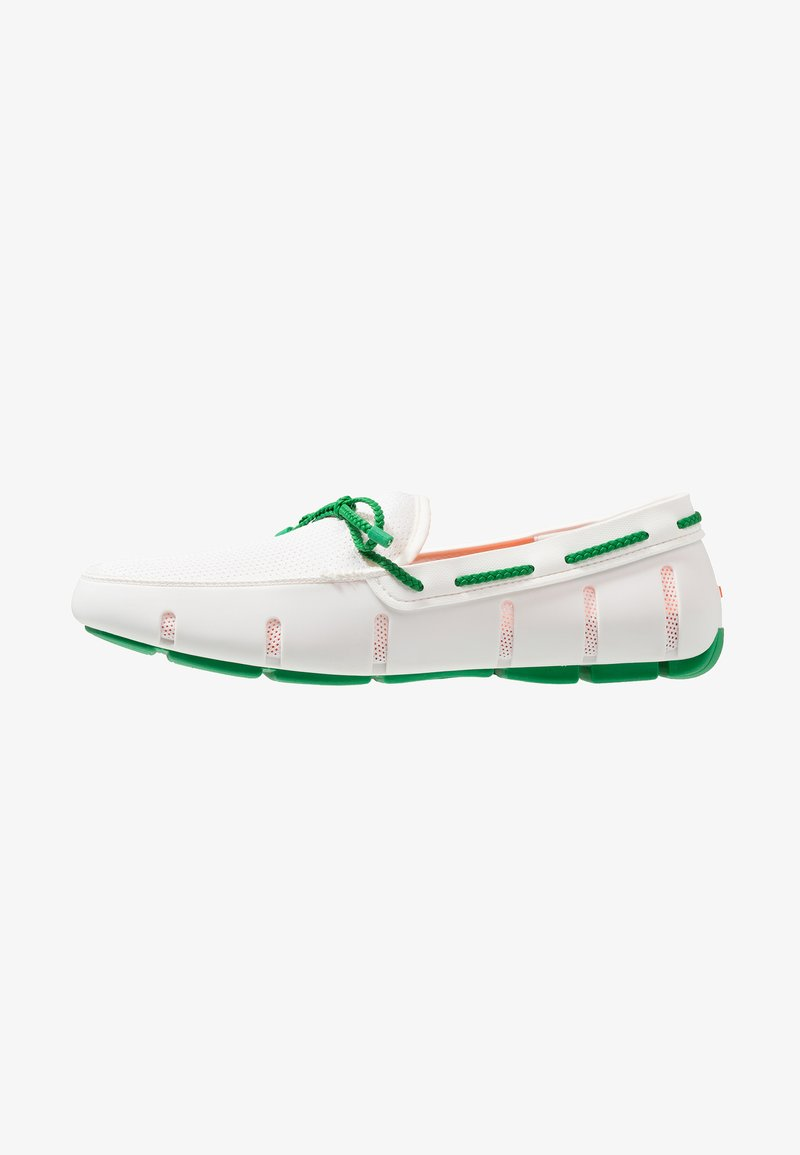 Swims - LACE LOAFER - Mocasines - white/jolly green