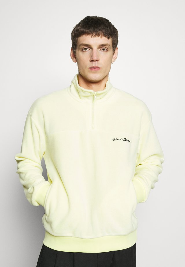 UNISEX LOOSE ZIPPED - Zip-up hoodie - yellow