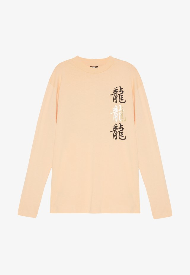 UNISEX  LOOSE  - Long sleeved top - peach