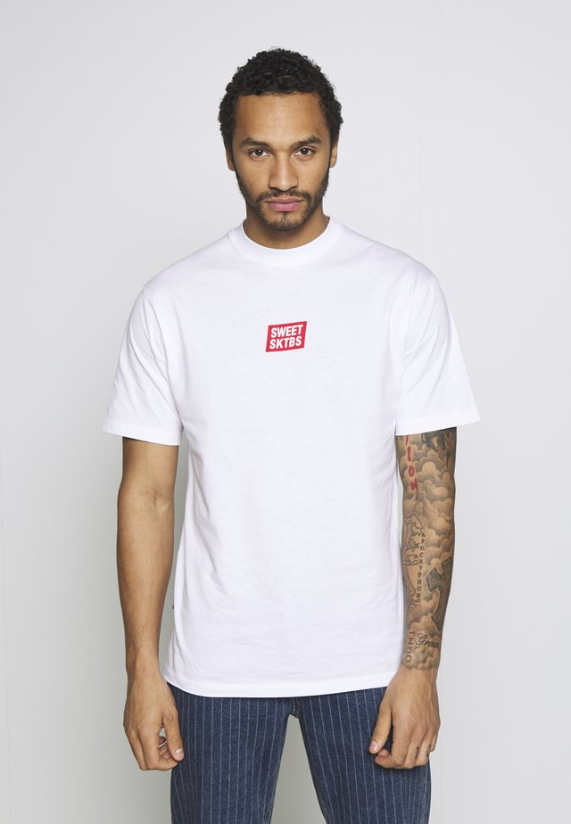 UNISEX SWEET 90S LOOSE TEE - T-shirts print - white