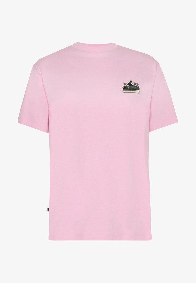UNISEX SWEET LOOSE TEE - T-shirts med print - pink
