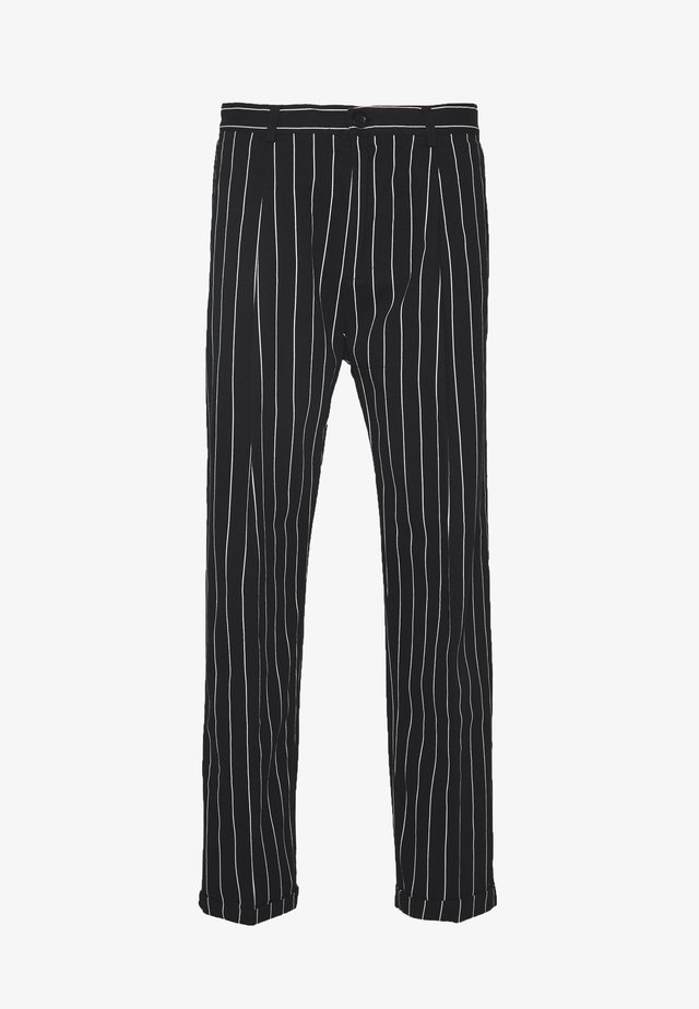SWEET CHINOS - Broek - black/white