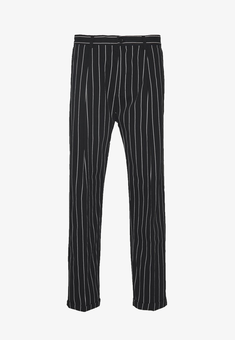 Sweet SKTBS - UNISEX SWEET 80S CHINOS - Trousers - black/white