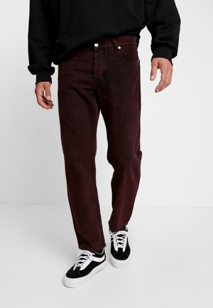 LOOSE - Relaxed fit jeans - stone red
