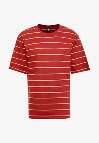 Sweet SKTBS - LOOSE SURFER - Print T-shirt - dark red/yellow - 3