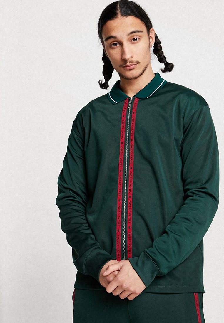 Sweet SKTBS - LONGSLEEVE SWEET LOOSE ZIP  - Veste de survêtement - green