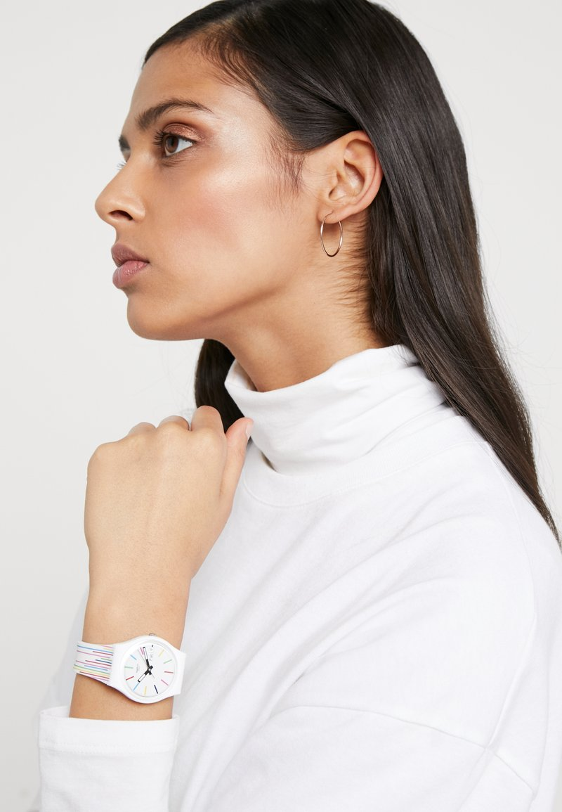 Swatch - SAMBA - Watch - weiss/bunt
