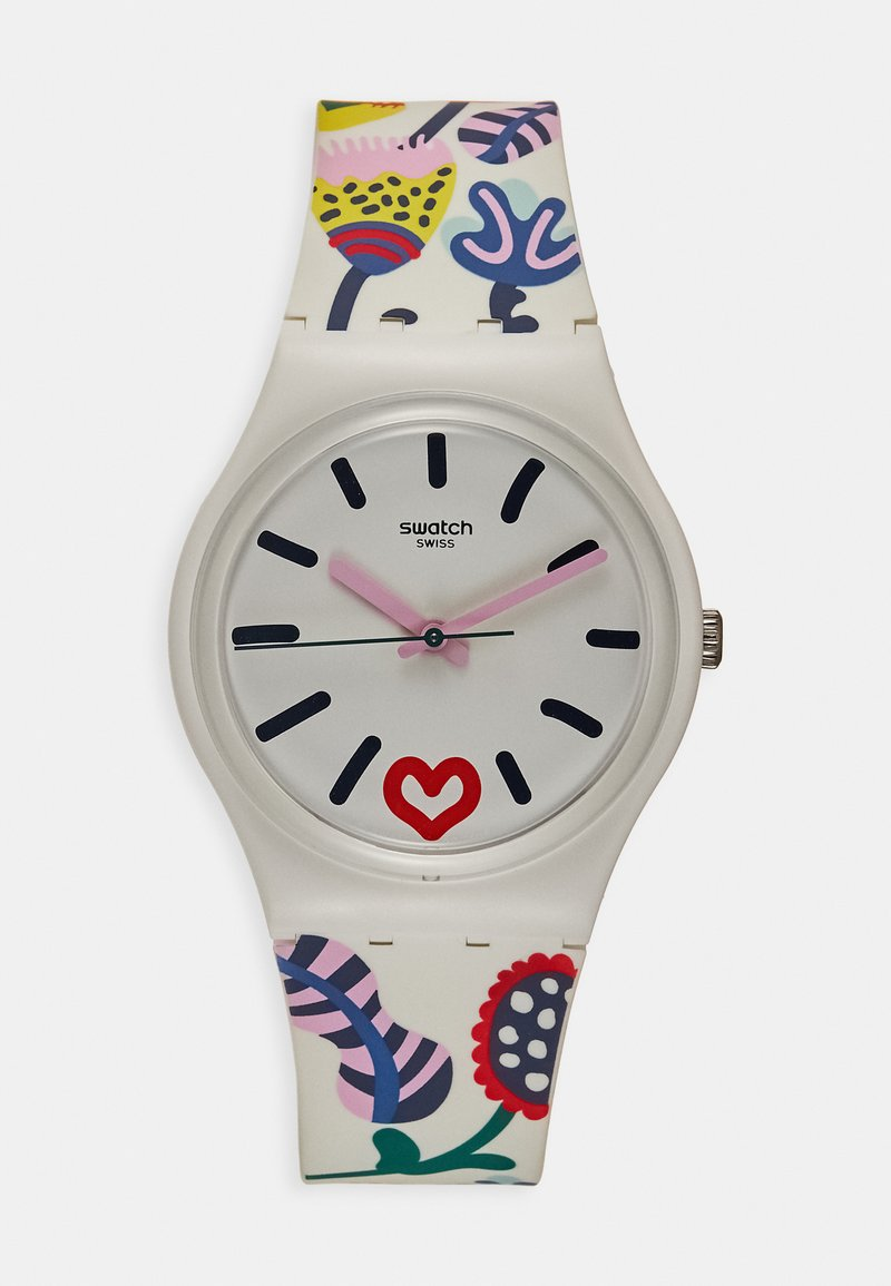Swatch - JUST FLOWERS - Hodinky - white