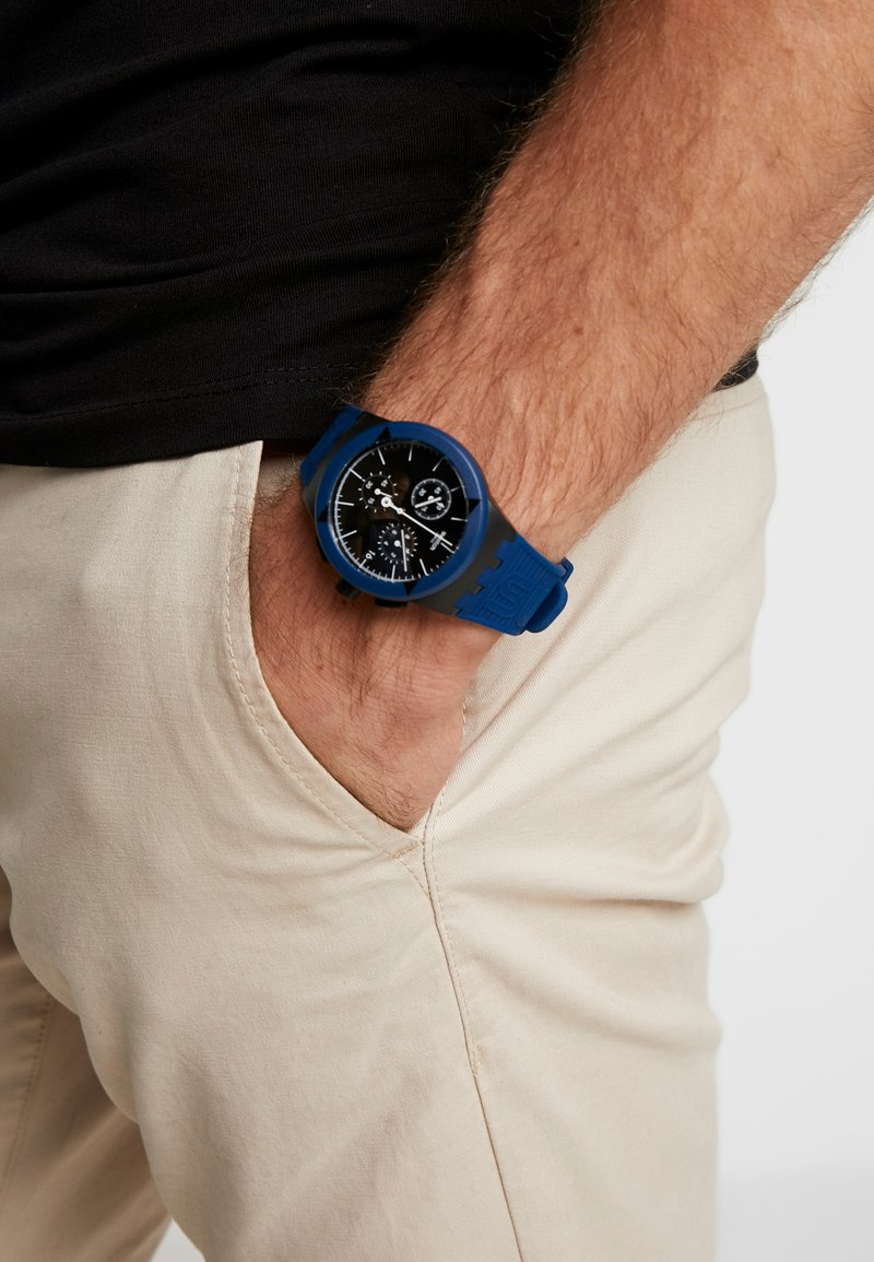 Swatch - X-DISTRICT - Hodinky se stopkami - navy