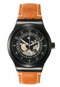 Swatch - SISTEM THOUGHT - Watch - black/cognac - 0