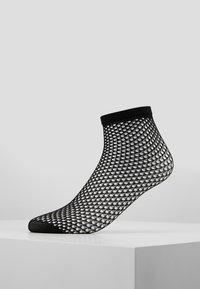 Swedish Stockings - VERA NET SOCK - Ponožky - black - 0
