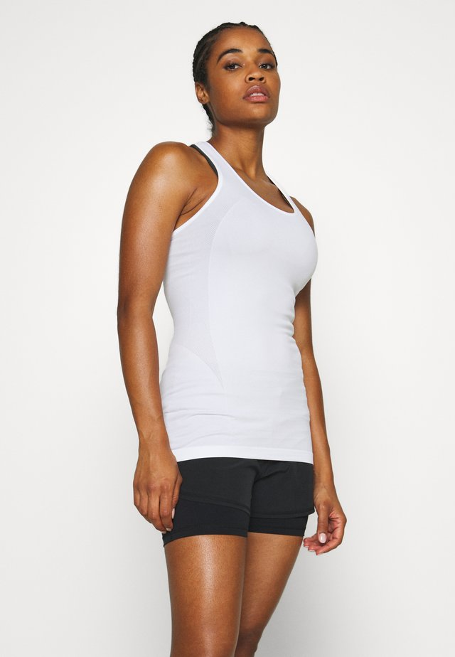 ATHLETE SEAMLESS WORKOUT VEST - Sportshirt - white