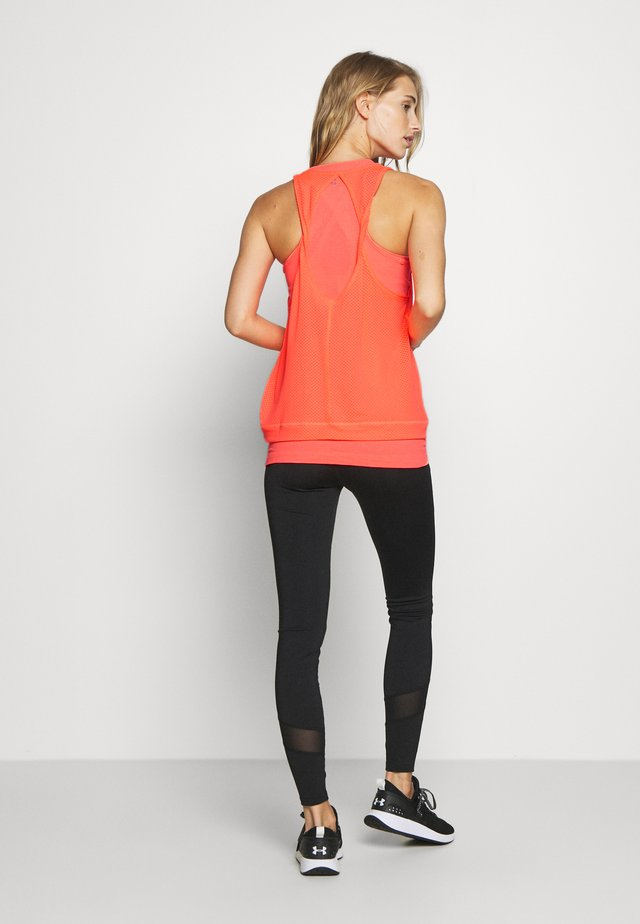 DOUBLE TIME 2 IN 1 WORKOUT VEST - Top - fluro flash pink