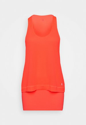 DOUBLE TIME 2 IN 1 WORKOUT VEST - Toppe - fluro flash pink