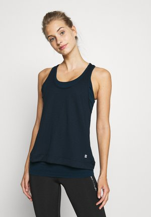 DOUBLE TIME 2 IN 1 WORKOUT VEST - Top - beetle blue