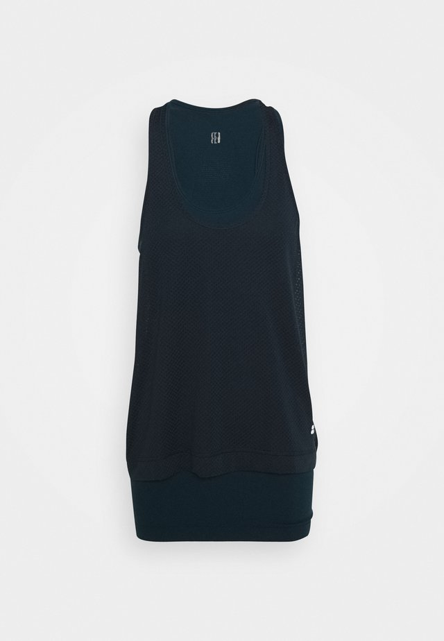 DOUBLE TIME WORKOUT VEST - Top - beetle blue